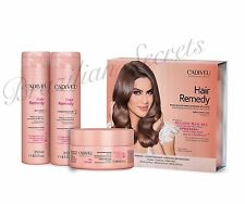 CADIVEU HAIR REMEDY BRAZILIAN SHAMPOO CONDITIONER & HAIR MASK DAMAGE REPAIR KIT