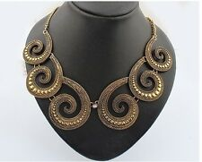 Fashion Charm Retro Bronze Metal Splicing Octopus Tentacles Chunky Necklace
