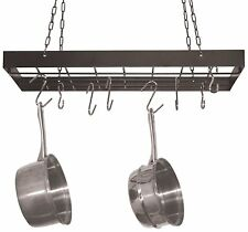 Fox Run Square Pot Rack with Chrome Chains and Hooks, Black, New, Free Shipping