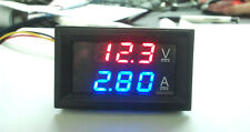 DC 0-100V 10A Dual LED Digital Voltmeter Ammeter Voltage AMP Power