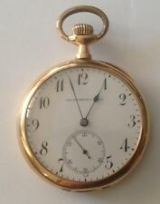 """ANTIQUE """"CRONOMETRO REAL"""" OPEN FACE POCKET WATCHE 18K GOLD GENEVE 1897 YEAR!"""