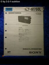Sony Service Manual ICF M760L  PLL Synthesized Radio (#5500)
