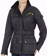 Women's Barbour International Polarquilt Jacket / Coat Fleece - BLACK - UK 12