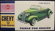 Pyro 1937 Chevy Custom Convertible Table Top Series 1:32 Scale Kit From 1969 NOS