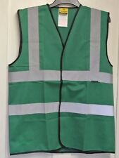 New Dunlop Mens safety vest/Gilet forest green M