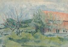 DURNSFORD MILL MINAL WILTSHIRE Painting c1938 SICKERT Pupil FRANK GRIFFITH