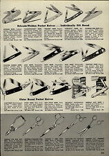 1955 PAPER AD Imperial Automatic Opens Lock Pocket Knife Schrade Walden