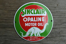 Superb heavy quality enamel advertising sign Sinclair motor oil round plaque
