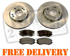 Fits Hyundai COUPE 1.6 2.0 2.7 FRONT BRAKE DISCS & PADS SET COMPLETE KIT 01-09