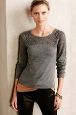 Anthropologie Knitted & Knotted Nettie Pullover Top PM NWOT