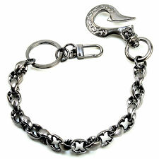 "Simple Classic Symbol EMO Biker Trucker Key Jean Wallet Chain (14"") CS105 BLACK"