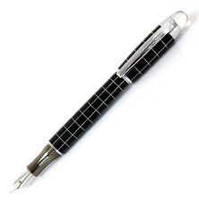 Baoer 79 Etched Barrel Fountain Pen, Charcoal, Chrome Trim