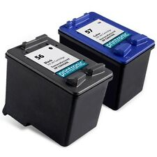 2PK HP 56 57 Ink Cartridge C6656AN C6657AN - PSC 2175 2110 2410 2210 Printer