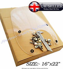 "ROYAL ENFIELD MOTORBIKE MOTORWAY WINDSHIELD SCREEN  FITTING ASSEMBLY 16""x 22"""