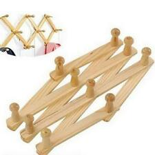 Expandable Wood Wall Racks for Coats, Hats, Mugs - Up to 30 Inches -1 Pack C