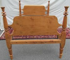 FEDERAL PERIOD SOLID TIGER MAPLE FOUR POSTER BED