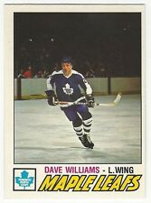 1977-78 OPC HOCKEY #383 DAVE WILLIAMS 2ND YEAR - NEAR MINT-