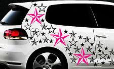 93 Sterne Star Auto Aufkleber Set Sticker Tuning Shirt Stylin WandtattooTribel z