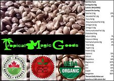 100% CANADIAN * CERTIFIED ORGANIC * NATURAL WHOLE HEMP SEEDS * 80 grams