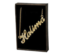 "Name Necklace ""HALIMA"" - 18ct Gold Plated - Swarovski Elements - Birthday Gifts"