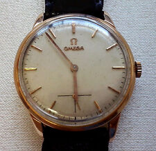 ORIGINAL OMEGA 18K SOLID ROSE GOLD CAL 267 MANUAL WIND MEN'S WATCH REF #2894