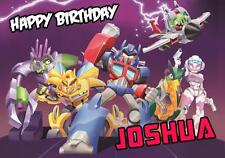 PERSONALISED ANGRY BIRDS TRANSFORMERS BIRTHDAY CARD