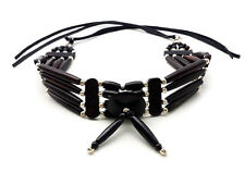 Handmade Traditional Buffalo Bone Hairpipe Choker Necklace
