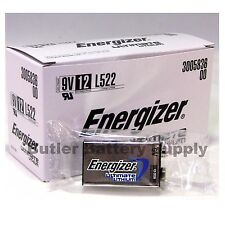 12 Energizer Ultimate Lithium 9V (9 Volt) Batteries (L522, 6LR61, 1604LC)