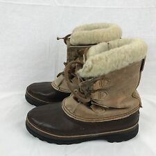 Sorel Mens Alpine Winter Snow Boots Size 11.5 Brown Leather Rubber