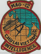 USMC MAG-12 Marine Aircraft Group Chu Lai Vietnam Patch Intelligence