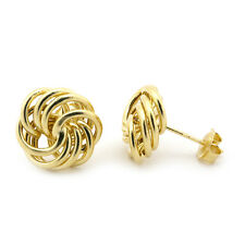 14k Yellow Gold 12mm Large Open Love Knot Earrings