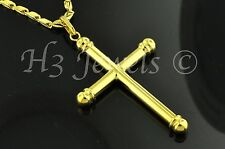 18k solid yellow gold  cross pendant  #1025 h3jewels 2.90 grams