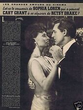 Coupure de presse Clipping 1959 Sophia Loren & Cary Grant   (3 pages)