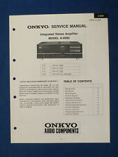 ONKYO A-8500 INTEGRATED AMP SERVICE MANUAL ORIGINAL FACTORY ISSUE GOOD CONDITION