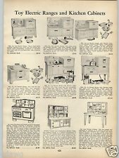 1938 PAPER AD Toy Electric Range Stove Kitchen Cabinets Washing Machine