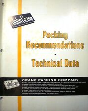 ASBESTOS Packing Recommendations Technical Data JOHN CRANE Co 1960's