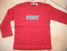 """(X177) Imps & Elfs Baby Langarm Shirt mit Logo & """"Start"""" Druck Druckknöpfe gr.62"""
