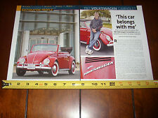 1967 VOLKSWAGEN VW CONVERTIBLE  - ORIGINAL 2014 ARTICLE LITERATURE