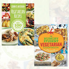 Hungry Student Vegetarian Cookbook 2 Books Collection Cook's kitchen Vegetarian