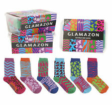 Glamazon Six Wild Odd Socks (UK 4-8) by United Oddsocks