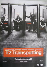 T2 TRAINSPOTTING, Danny Boyle movie film poster A3, Odeon cinema advert art, t2