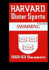 *1963 (Jan. 12) Harvard v Dartmouth 4-page swimming program