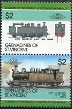 1890 JNR Class 2120 0-6-2T Japanese National Train Stamps / LOCO 100