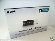 D-Link Wireless-N USB 2.0 RangeBooster Adapter 802.11g/n 2.4GHz WPA/WPA2 DWA-140