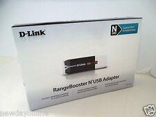 D-Link Wireless-N USB 2.0 RangeBooster Adapter 802.11g/n 2.4GHz WPA/WPA2 DWA-140