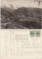 PANORAMA DI CALALZO CON LE MARMAROLE (BELLUNO) 1953 - TARGHETTA