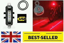 Rechargeable Front+rear laser light set - very bright lamp mountain road bike