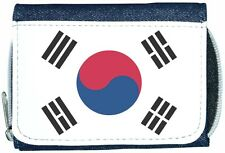 South Korea Flag Denim Wallet