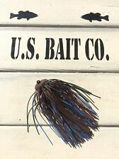 Bass Jig Skirts Living Rubber Lot Of 10 Color Brown Black Blue