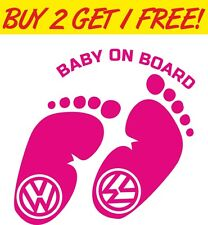 Baby on Board Car Sticker Funny Vinyl Graphics Decals VW EURO
